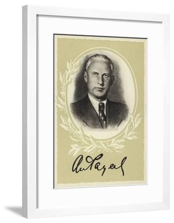 Alexander Fadeyev, Russian Author--Framed Giclee Print