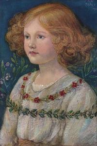 'Portrait in enamel of Rosemary, Daughter of John', c1909 by Alexander Fisher