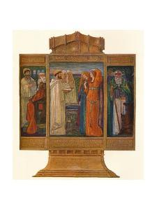 Triptych in Painted enamels: Scenes from the life of St. Patrick, 1903 by Alexander Fisher