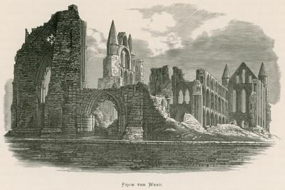 Whitby Abbey, from the West