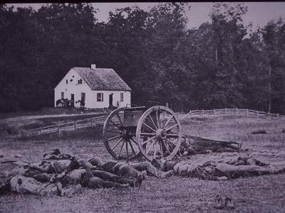 Dead Confederate Gun Crew after Battle of Antietam, 1862