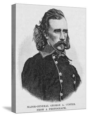 Major General George Armstrong Custer, Engraved from a Photograph, Illustration from 'Battles and…