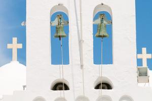 Steeple, Bells, Crosses, Island Sifnos, the Cyclades, Greece by Alexander Georgiadis