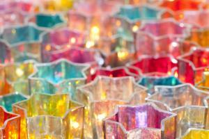 Wind Lights, Candle Lights in Colourful Glass Vessels by Alexander Georgiadis