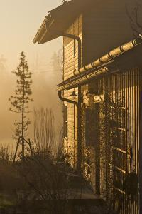 Wooden House, Detail, Facade, Morning Light by Alexander Georgiadis