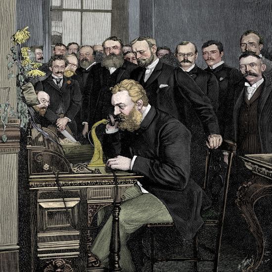 Alexander Graham Bell (1847-1922), Scottish-born American inventor-Unknown-Giclee Print
