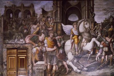 Alexander Great Taming Bucephalus, 1516-1517-Giovanni Antonio Bazzi-Giclee Print