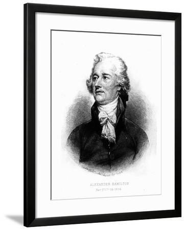Alexander Hamilton, Engraved by Albert Rosenthal, 1888 (Engraving)-John Trumbull-Framed Giclee Print