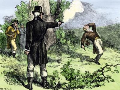 Alexander Hamilton Killed in a Duel with Aaron Burr, 1804