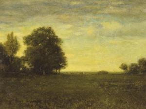 A Meadow with Trees by Alexander Helwig Wyant