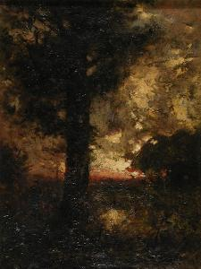 Landscape with Figure, C.1890 by Alexander Helwig Wyant