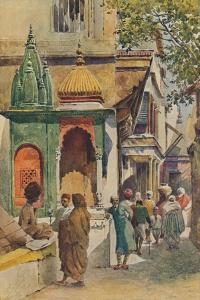 'A Corner Shrine in a Benares Alley', c1880 (1905) by Alexander Henry Hallam Murray