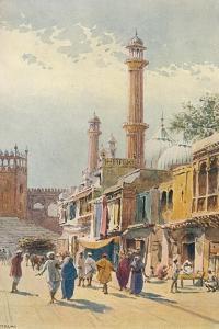 'A Street in Delhi - Looking Towards the Jumma Musjid', c1880 (1905) by Alexander Henry Hallam Murray