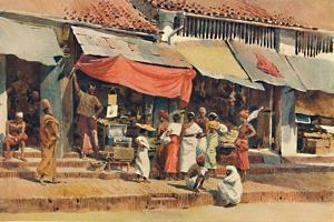 'A Street Scene in Kandy', c1880 (1905) by Alexander Henry Hallam Murray