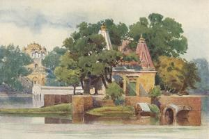 'A Temple in the Tank at Thanesar', c1880 (1905) by Alexander Henry Hallam Murray
