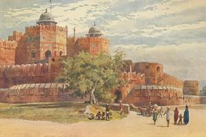 'Agra Fort - Outside the Delhi Gate', c1880 (1905) by Alexander Henry Hallam Murray