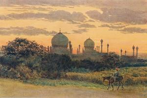 'Sunset Behind the Ibrahim Roza, Bijapur', c1880 (1905) by Alexander Henry Hallam Murray