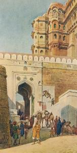 'The Ascent to the Palace, Jodhpur', c1880 (1905) by Alexander Henry Hallam Murray
