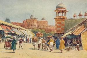 'The Bazaar, Agra', c1880 (1905) by Alexander Henry Hallam Murray