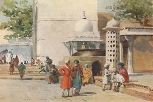 'The Cauldron at the entrance to the Dargah, Ajmere', c1880 (1905) by Alexander Henry Hallam Murray