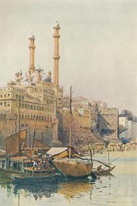 'The Ghats Below Aurangzeb's Mosque, Benares', c1880 (1905) by Alexander Henry Hallam Murray