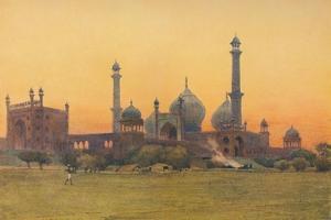 'The Jumma Musjid, Delhi - At Sunset', c1880 (1905) by Alexander Henry Hallam Murray