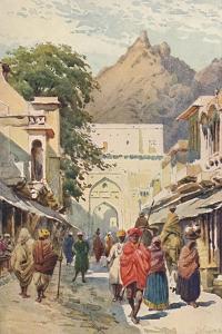 'The Main Street of Alwar', c1880 (1905) by Alexander Henry Hallam Murray