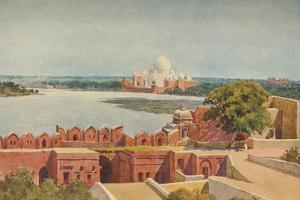 'The Taj from the Fort, Agra', c1880 (1905) by Alexander Henry Hallam Murray