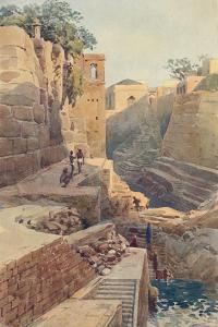 'The Tank at the Back of the Dargah, Ajmere', c1880 (1905) by Alexander Henry Hallam Murray