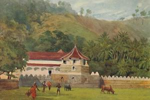 'The Temple of the Tooth, Kandy - Exterior', c1880 (1905) by Alexander Henry Hallam Murray