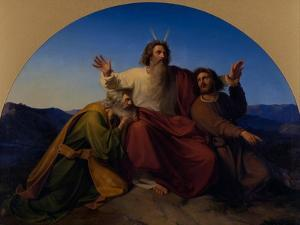 Moses, Aaron and Hur, 1837 by Alexander Heubel