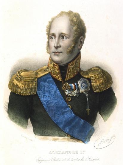 Alexander I, Tsar of Russia, C1801-1825--Giclee Print