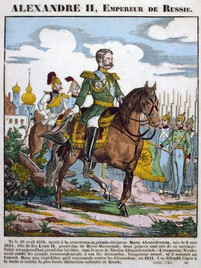 Alexander II, Tsar of Russia, Reviewing Troops, C1855--Giclee Print