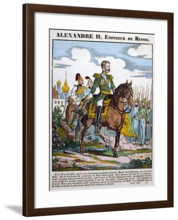 Alexander II, Tsar of Russia, Reviewing Troops, C1855--Framed Giclee Print