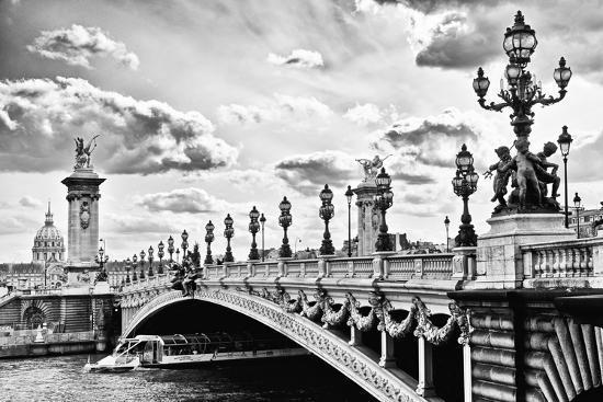 Alexander III Bridge view - Paris - France-Philippe Hugonnard-Photographic Print