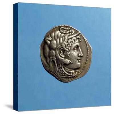 Alexander III the Great, 356-323 BC, Wearing Horns of God Amon, Coin from Period of Ptolemy I