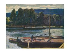 'Evening on the River Seine', c1910, (1912) by Alexander Jamieson