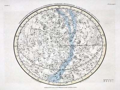 The Northern Hemisphere, from 'A Celestial Atlas' 1822