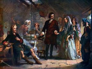 The First Meeting of Prince Charles and Flora Macdonald on the Island of South Uist, 1925 by Alexander Johnston
