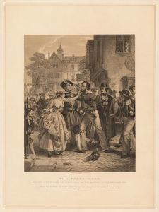'The Press-Gang: Seizing a Waterman on Tower Hill on the Morning of His Marriage', (1878) by Alexander Johnston