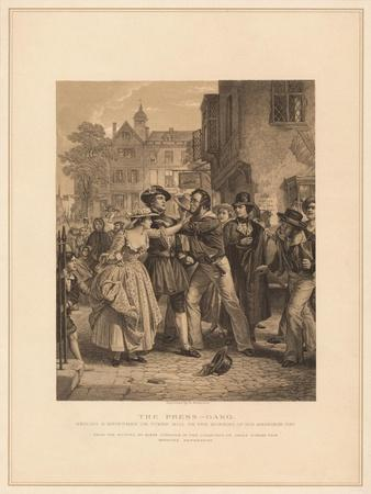 'The Press-Gang: Seizing a Waterman on Tower Hill on the Morning of His Marriage', (1878)