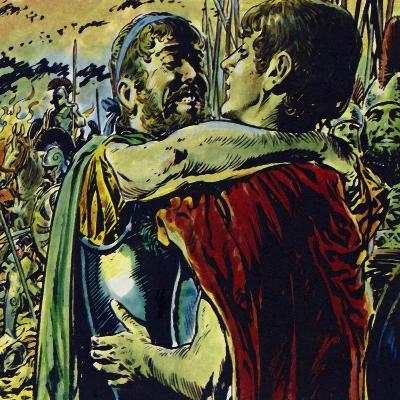 Alexander Joined His Father in Battle Against the Greeks-Jesus Blasco-Giclee Print