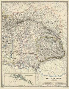 Austria East, c.1861 by Alexander Keith Johnston