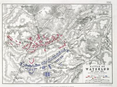 Battle of Waterloo, 18th June 1815, Sheet 1st by Alexander Keith Johnston