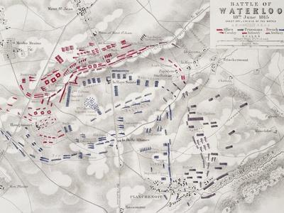 Battle of Waterloo, 18th June 1815, Sheet 2nd, Crisis of the Battle