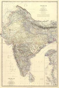 Composite: India, c.1861 by Alexander Keith Johnston