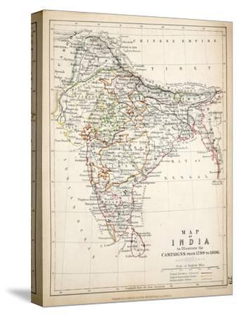 Map of India, Published by William Blackwood and Sons, Edinburgh and London, 1848