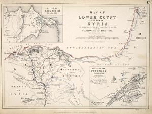 Map of Lower Egypt and Part of Syria, Published by William Blackwood and Sons, Edinburgh and… by Alexander Keith Johnston