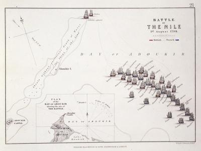 Plan of the Battle of the Nile, 1st August 1798, C.1830S (Engraving)