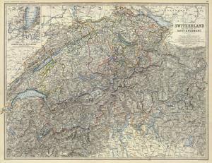 Switzerland, Savoy, Piedmont, c.1861 by Alexander Keith Johnston